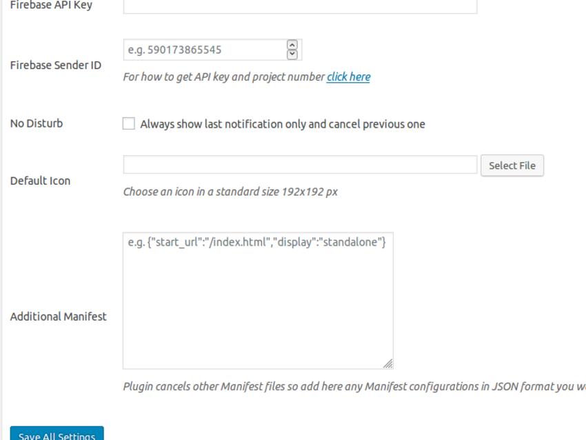 Configure the Firebase API key