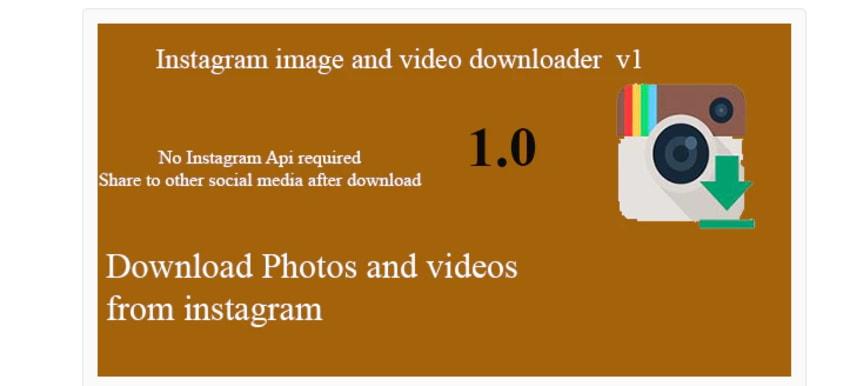 Instagram image and video downloader