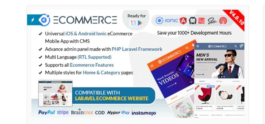 Ionic eCommerce