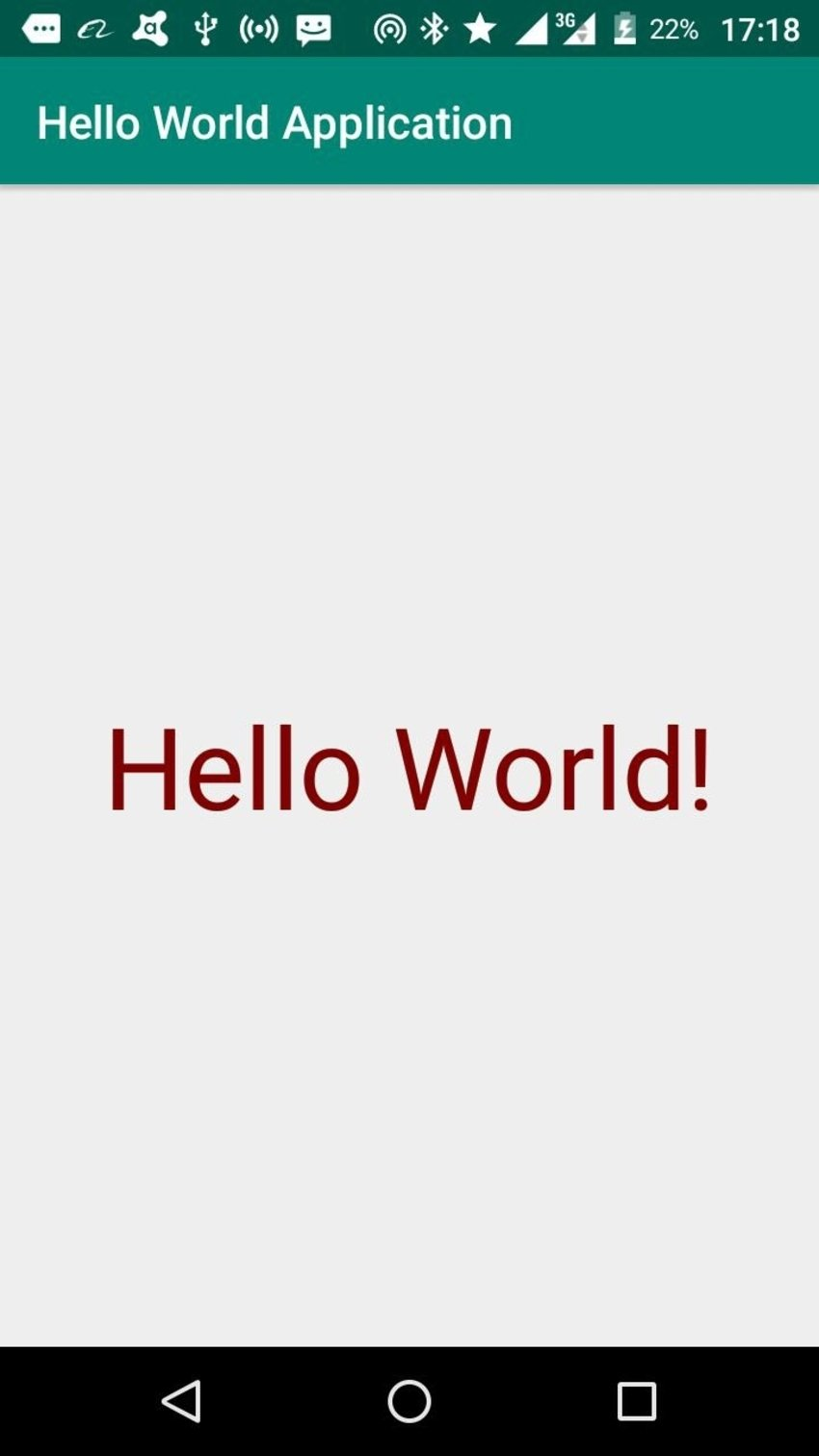 completed hello world app