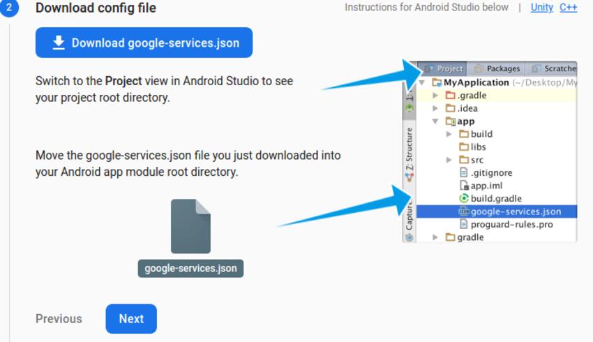 google services json