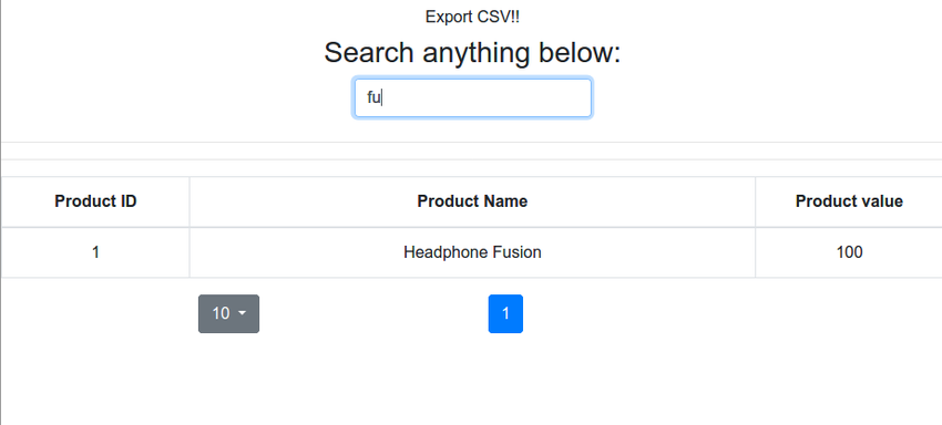 search react-bootstrap