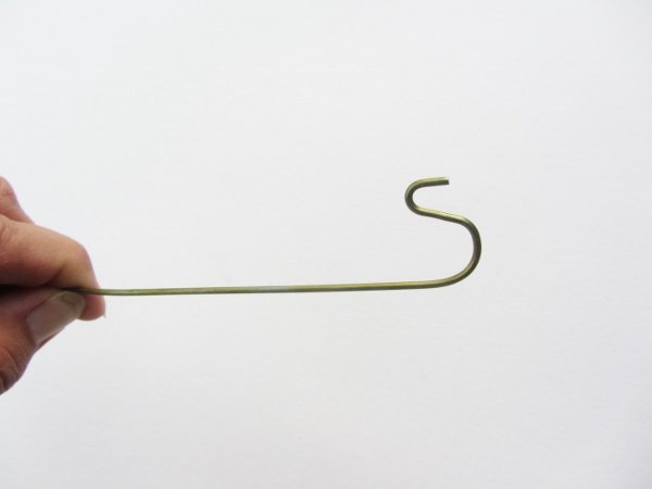 Length of wire with a hook on the end