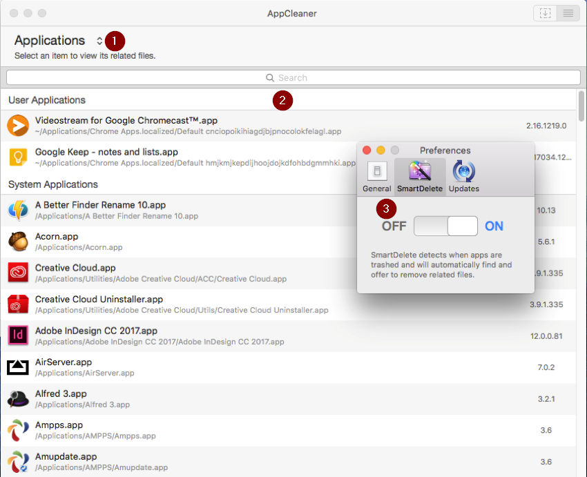 Appcleaner uninstall apps and their support files