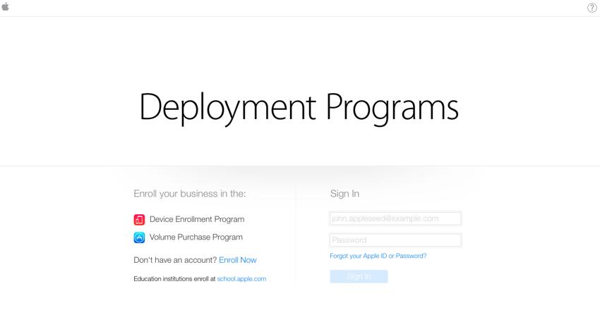 Sign up for Apple Deployment Program