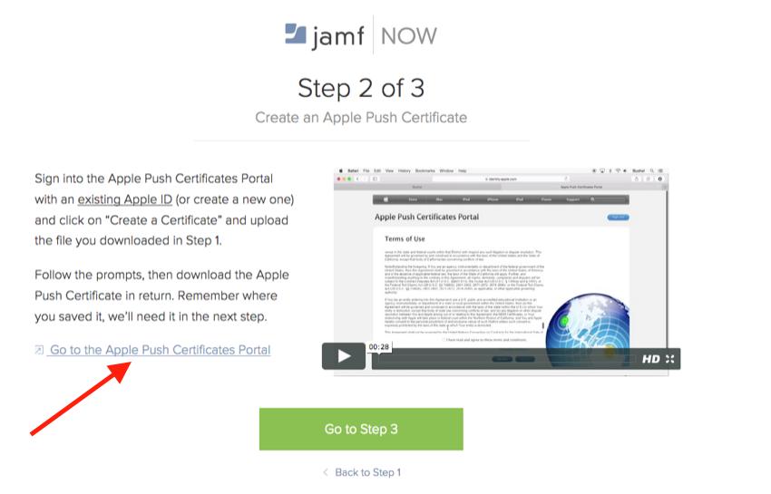 Login to the Apple Push Certification Portal