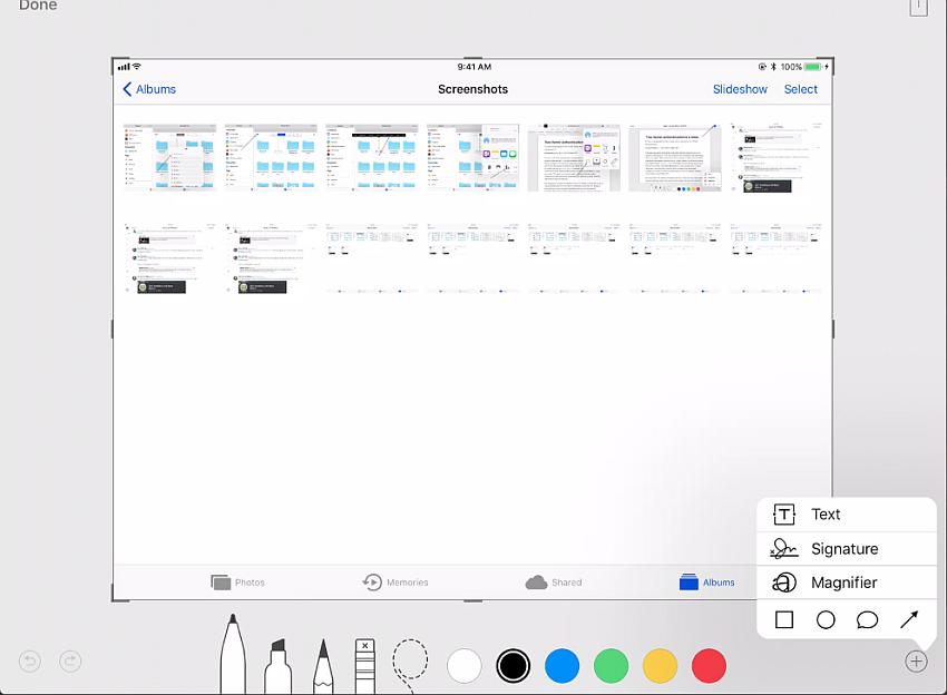 edit screenshot in iOS 11