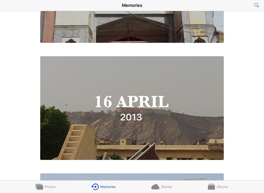 memories auto-generated in photos app ios