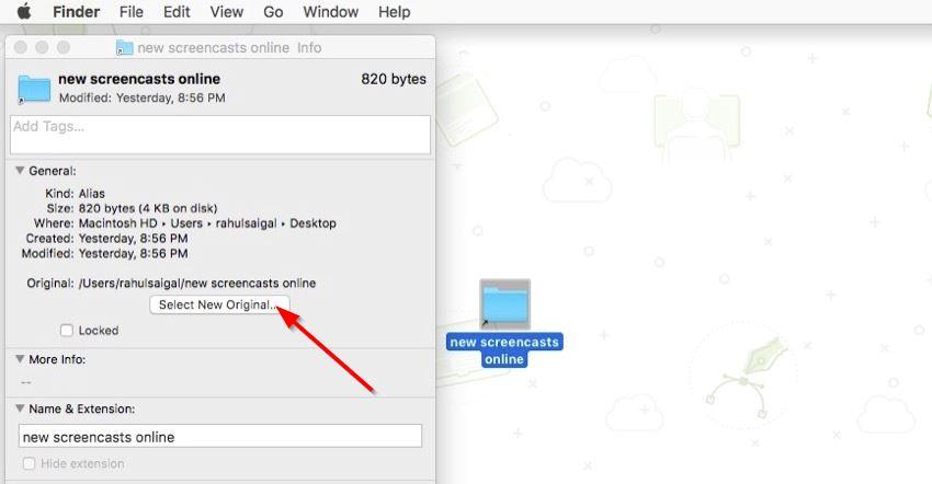 edit alias through the info window