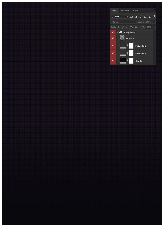 Create dark blue gradient