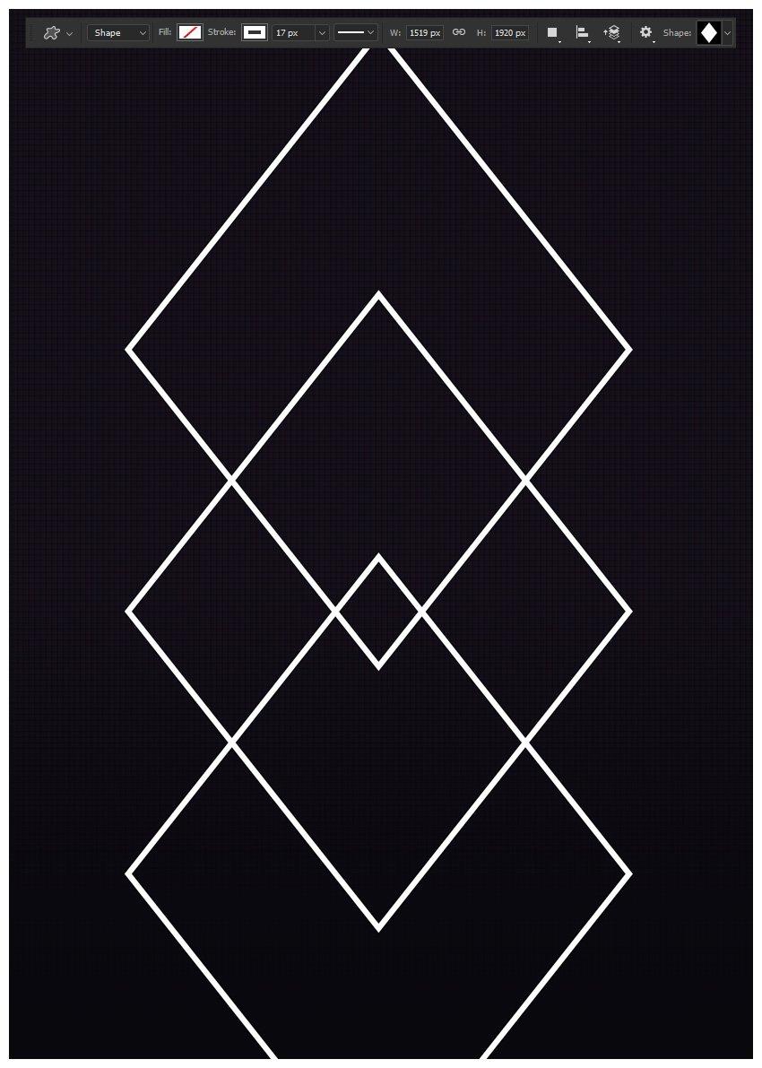 Create three diamond shapes