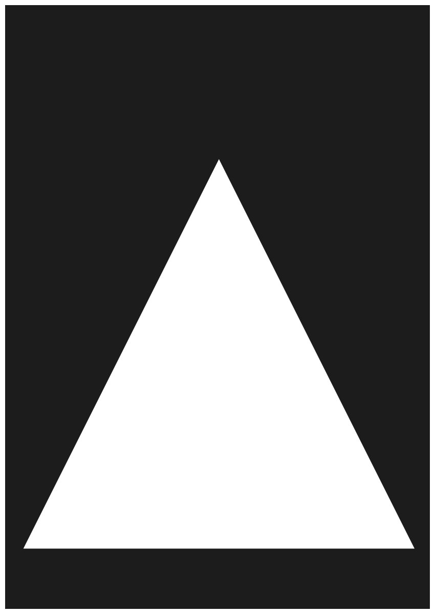 create white triangle