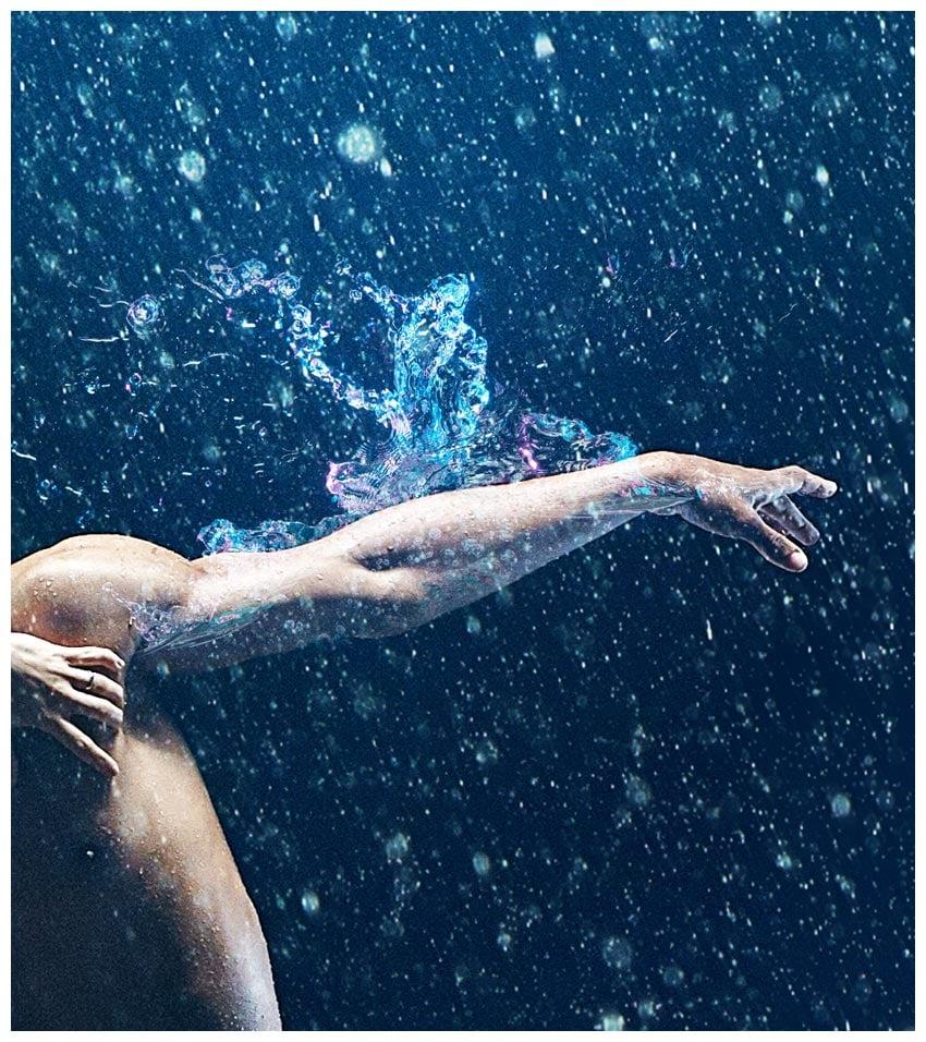 place splash on arm