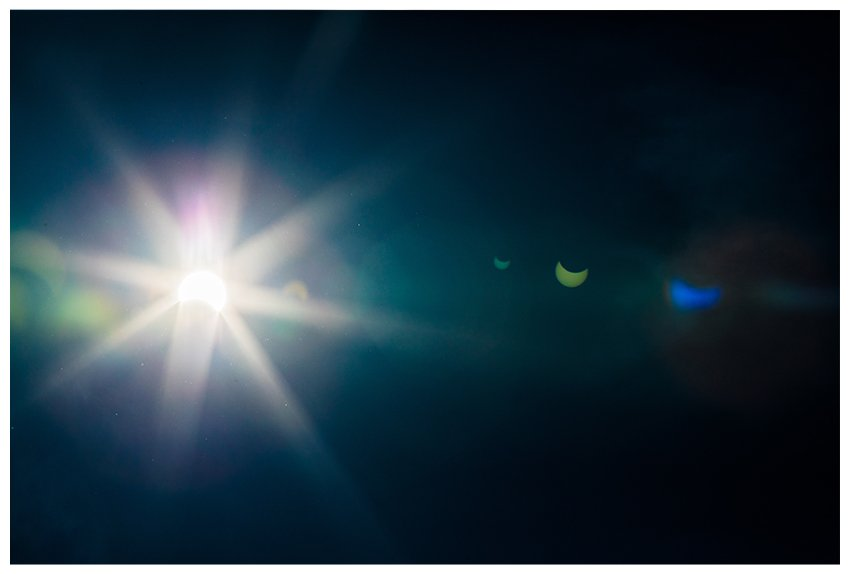 solar eclipse lens flare