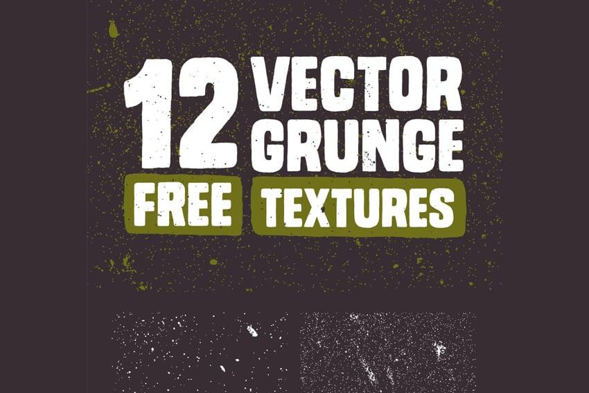 12 Free Vector Grunge Textures