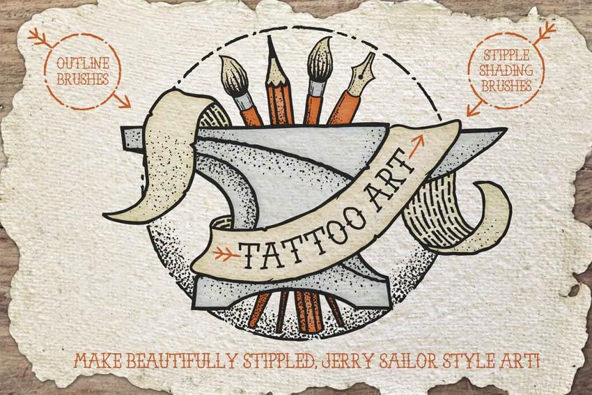 Tattoo Style Art Brushes