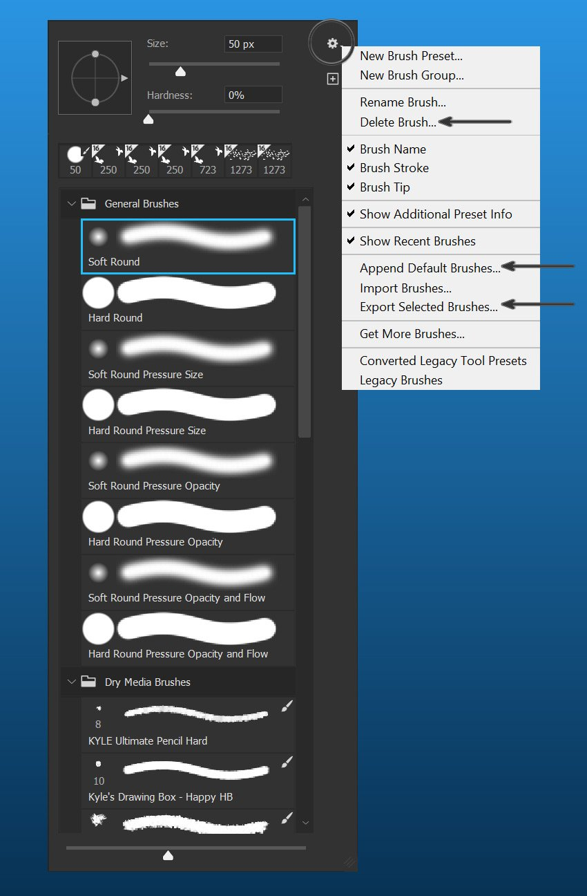 load brushes in photoshop