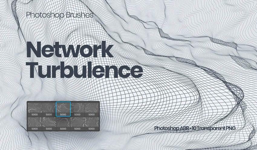 Network Turbulence Photoshop Brushes