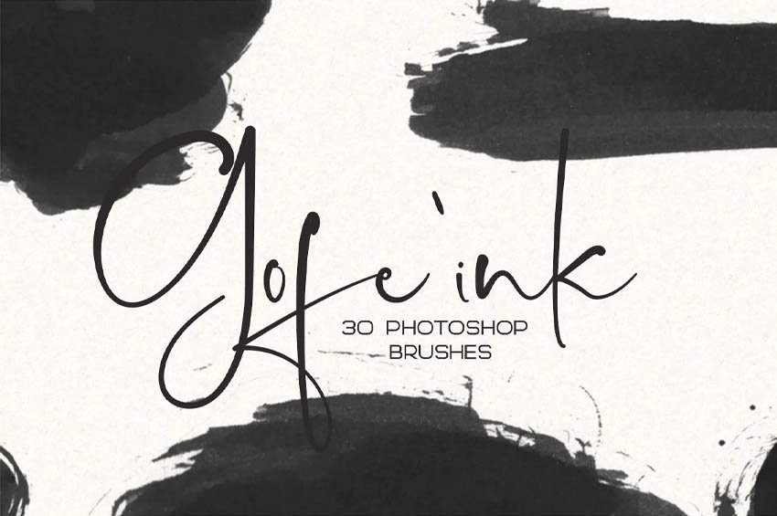 30 Gofe Ink Photoshop Brushes