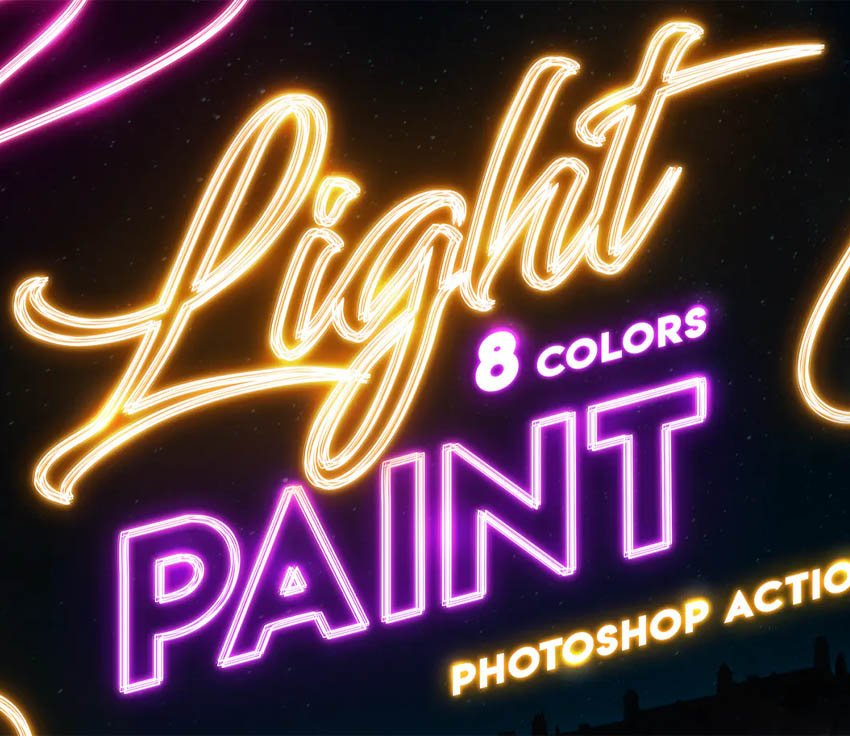 Light Painting - Photoshop Action