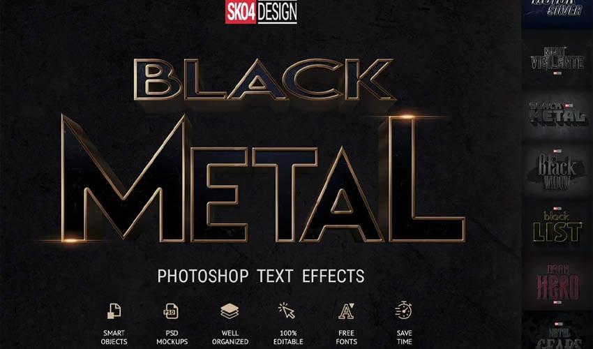 Black & Metal – PSD mockups