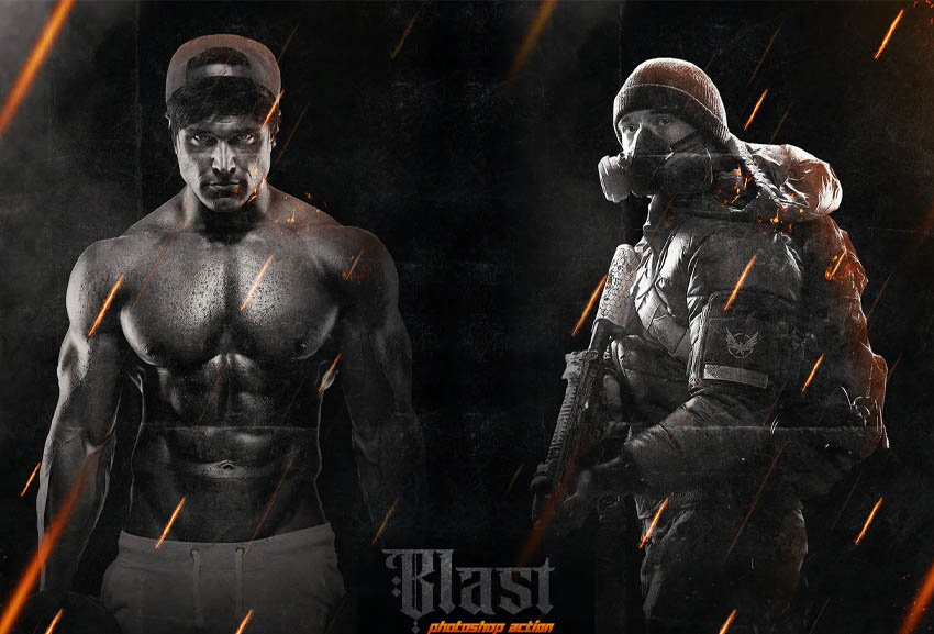 Blast Photoshop Action