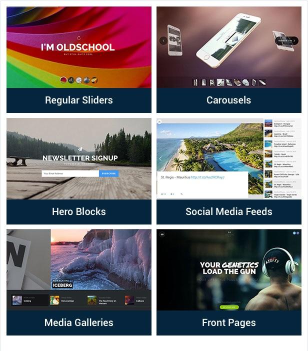 Slider Revolution features