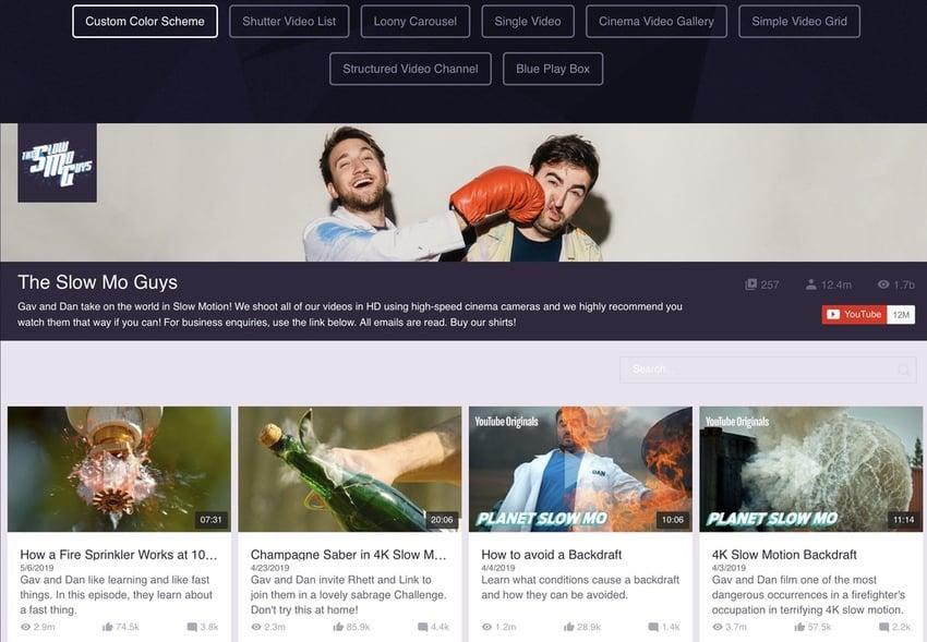 WordPress YouTube Gallery Plugin