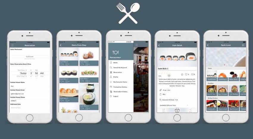 Restaurateur iOS 20 app template