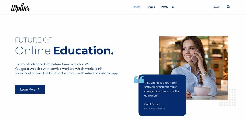 WPLMS Learning Management System Theme