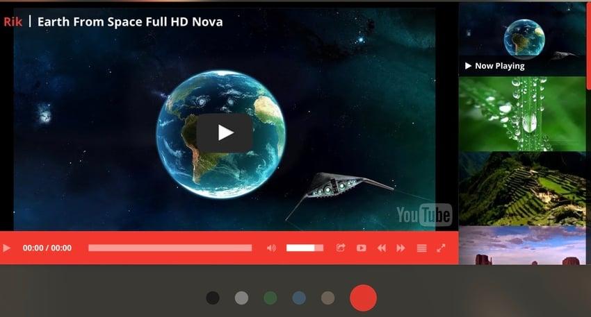 WordPress Responsive YouTube Playlist Video Player