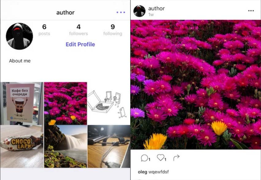 Instagram iOS Template