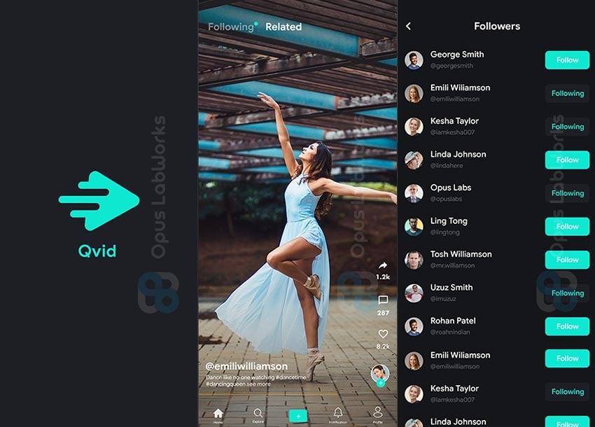 QVid - TikTok Clone App Flutter Template