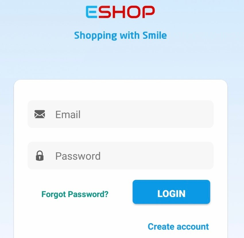EShop Native Android eCommerce App