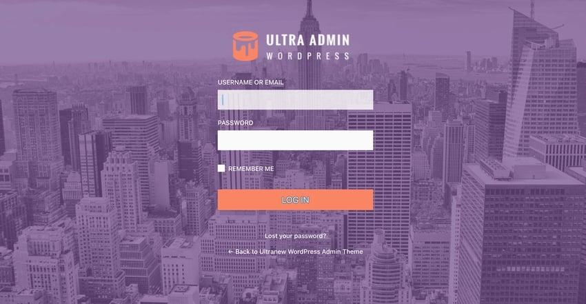 Ultra WordPress Admin Theme