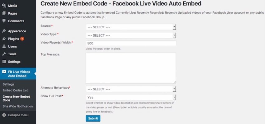 facebook-live-video-auto-embed-for-wordpress