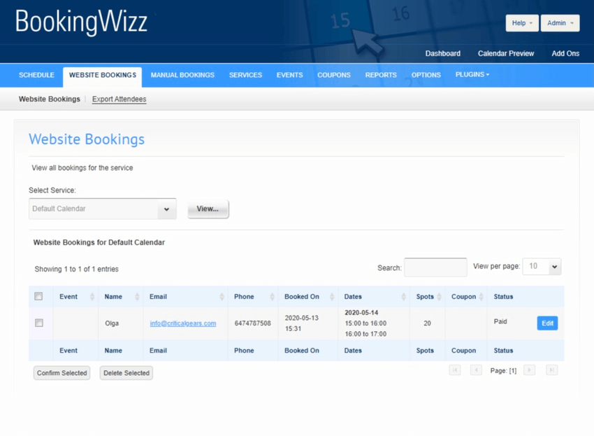 BookingWizz - Booking System