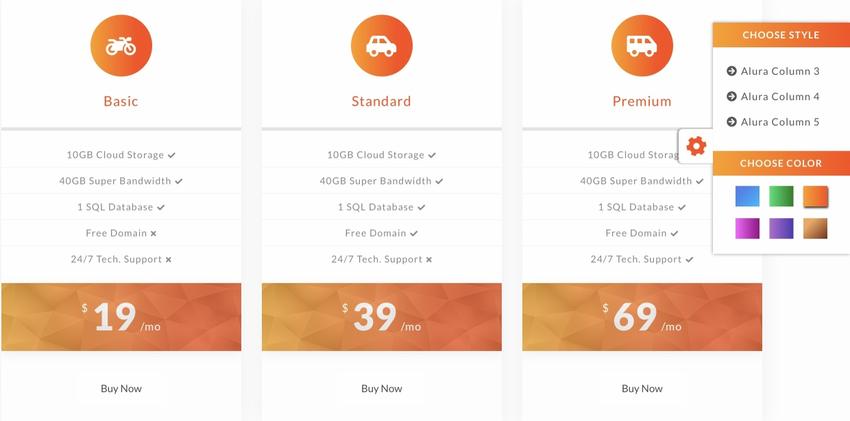 Alura - Creative And Ultimate Pricing Plan HTML Plugin