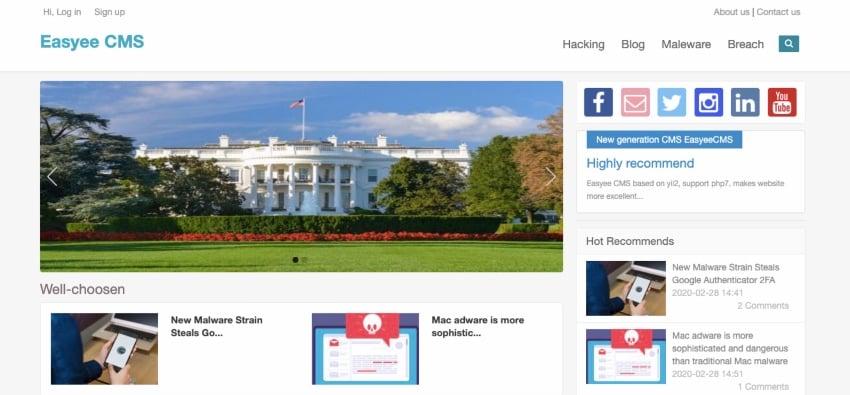 Easyee CMS - Blog, News, Magazine in Yii