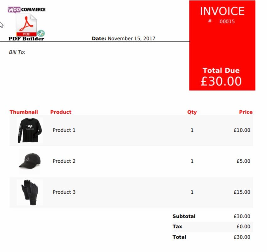 WooCommerce PDF Builder, Create invoices, packing slips and more