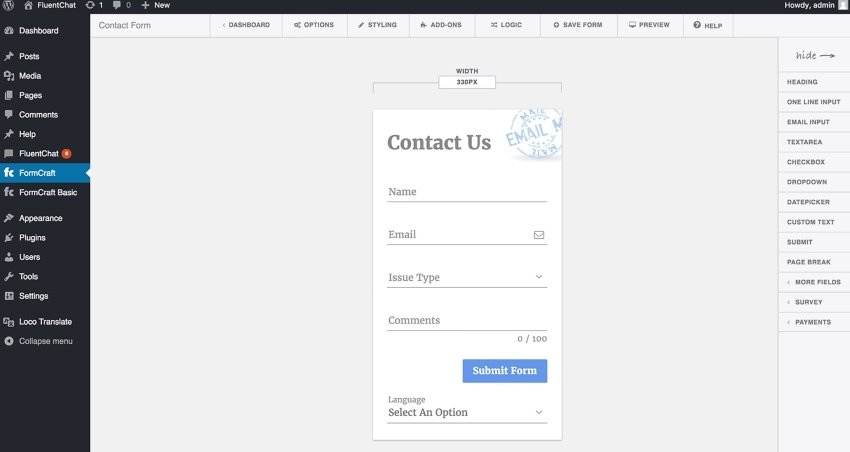 Form Craft Premium WordPress Form Builder