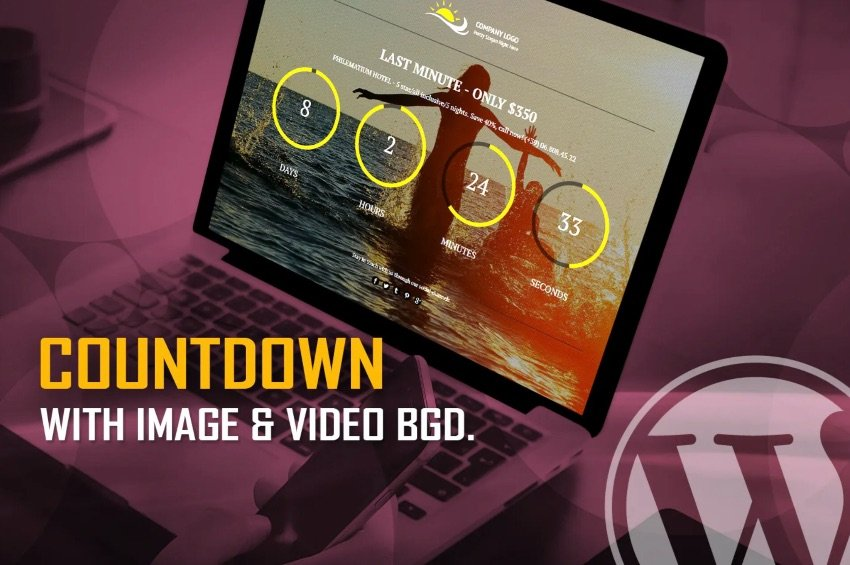 CountDown With Image or Video Background WP Plugin