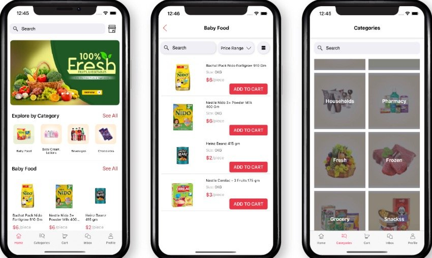Freshly IOS- Native Multi Vendor Grocery, Food, Pharmacy, Delivery Mobile App with Admin Panel
