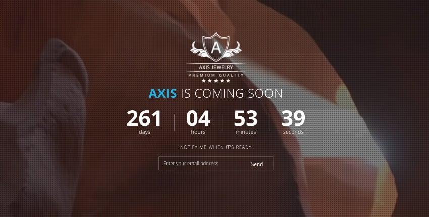 Axis - Responsive Coming Soon WordPress Plugin