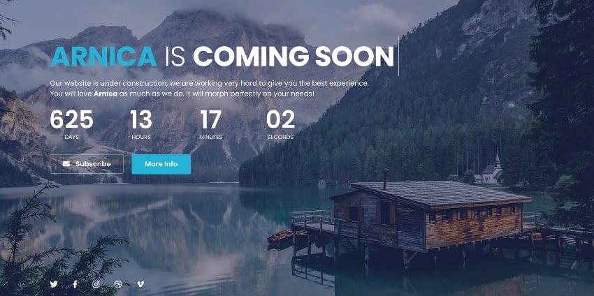 Arnica - Creative Coming Soon WordPress Plugin