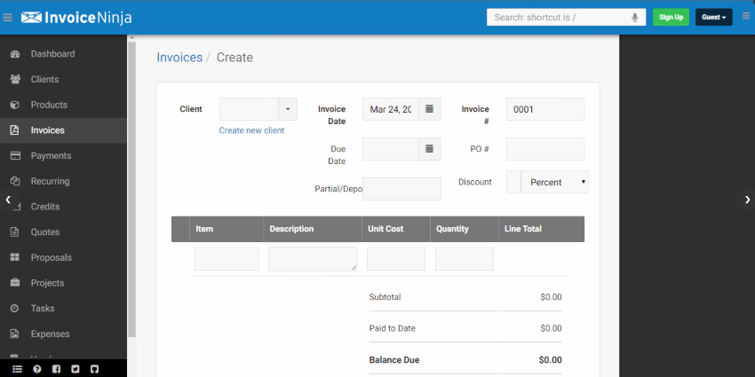 Invoice Ninja Free and Open Source Invoicing, Expenses & Time-Tracking