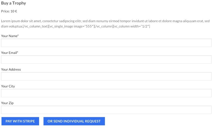 Stripe Integration for Contact Form CF7