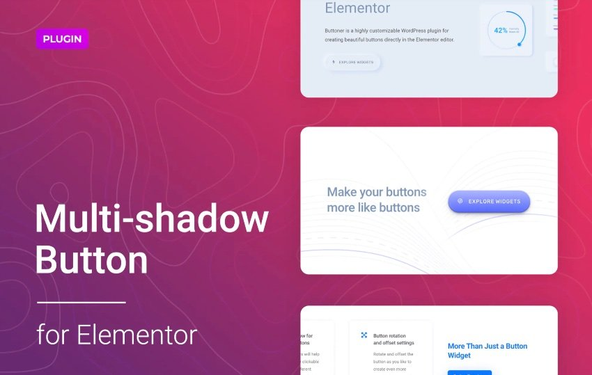 Multi-shadow Button for WordPress