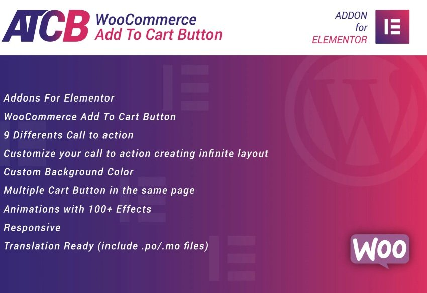 WooCommerce Add To Cart Button for Elementor