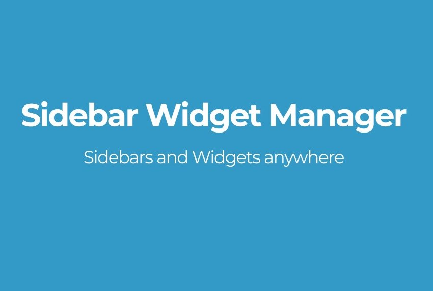 Sidebar Widget Manager